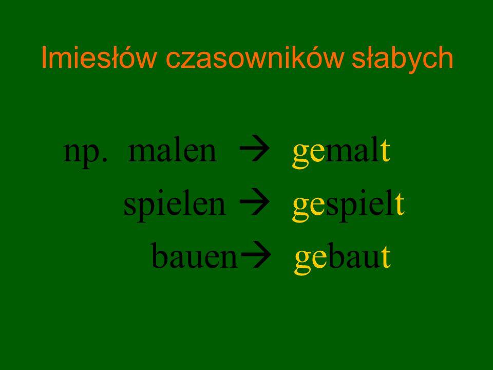 Imiesłów czasowników słabych