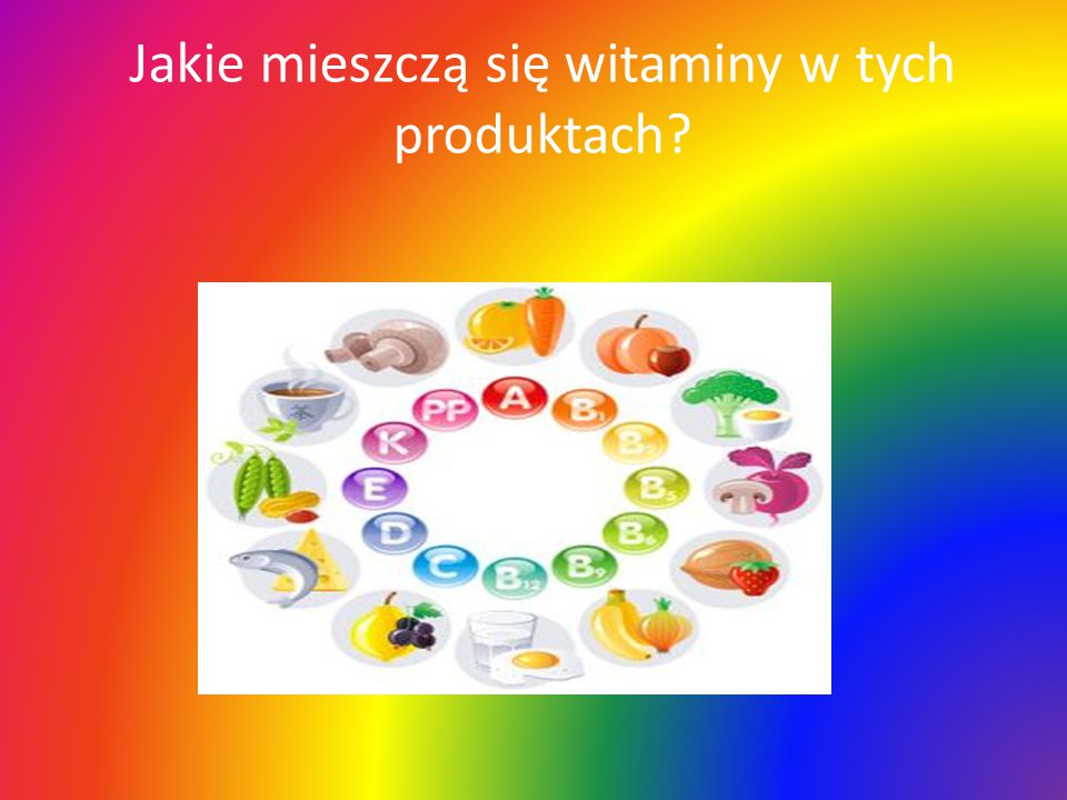 Jakie mieszczą się witaminy w tych produktach