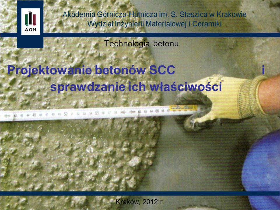 Projektowanie betonów SCC i sprawdzanie ich właściwości