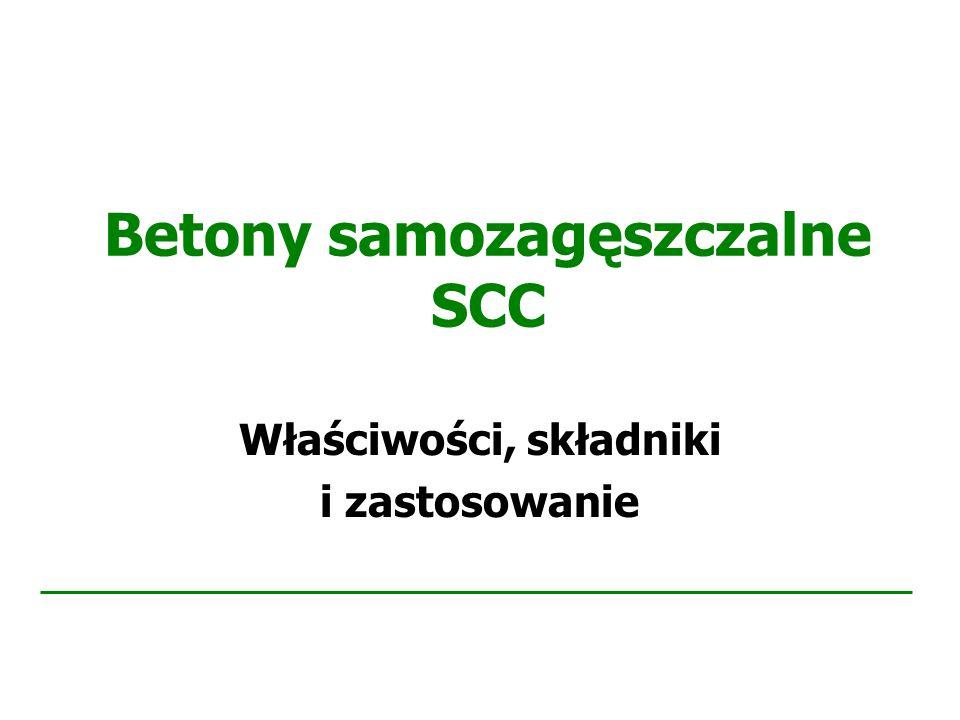 Betony samozagęszczalne SCC