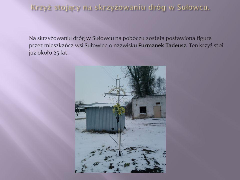 Krzyż stojący na skrzyżowaniu dróg w Sułowcu.