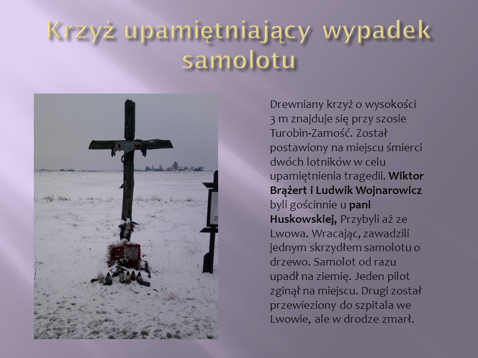 Krzyż upamiętniający wypadek samolotu