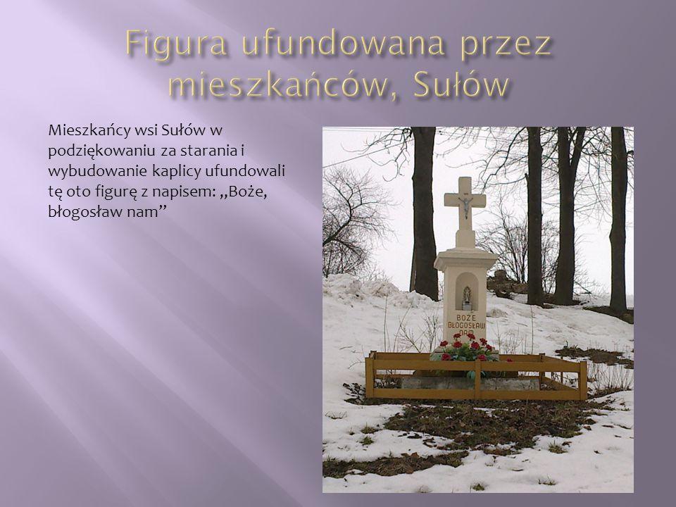 Figura ufundowana przez mieszkańców, Sułów