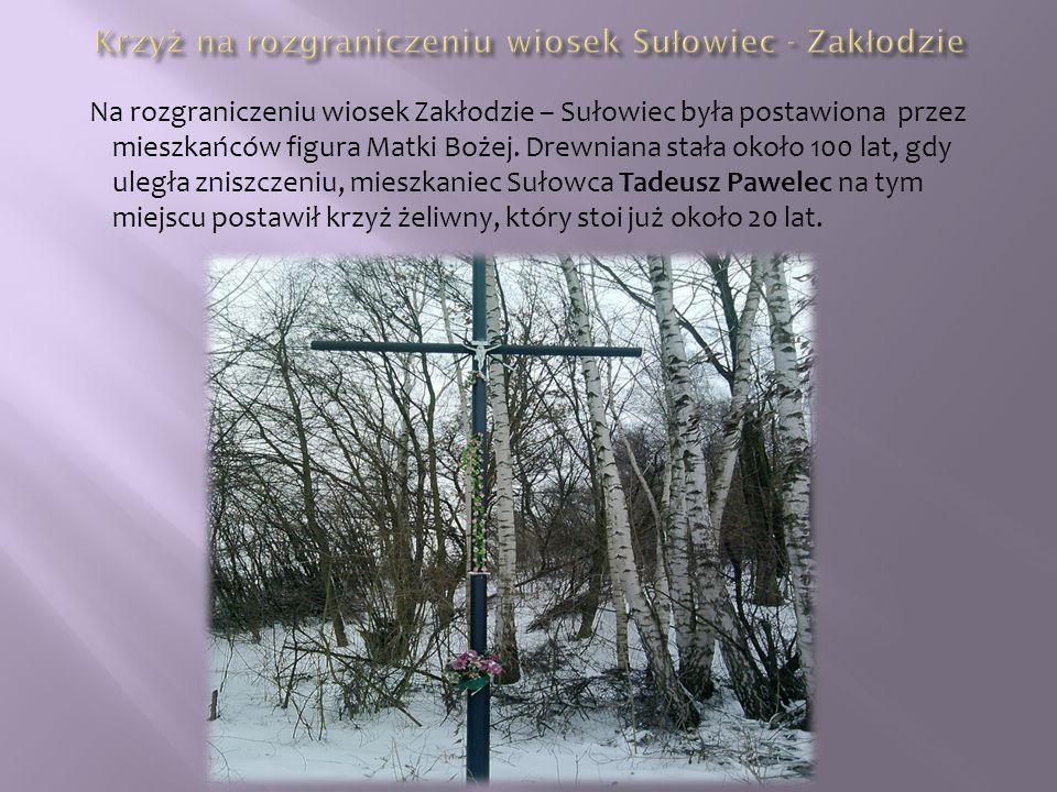 Krzyż na rozgraniczeniu wiosek Sułowiec - Zakłodzie