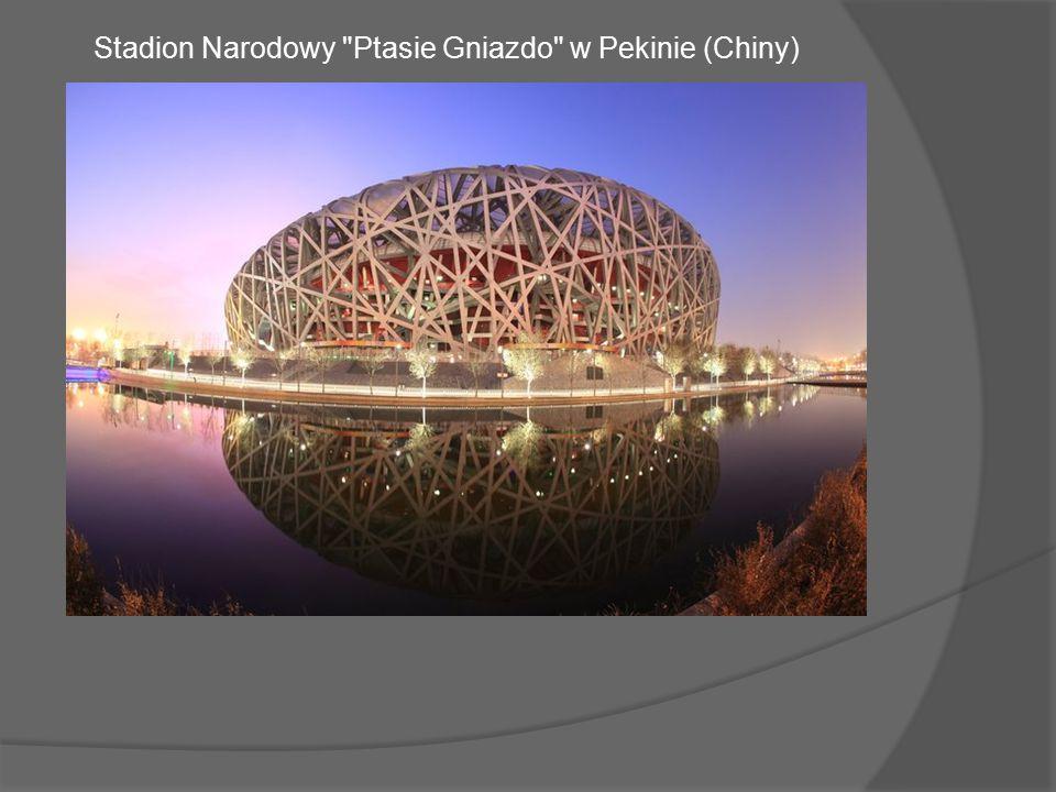 Stadion Narodowy Ptasie Gniazdo w Pekinie (Chiny)
