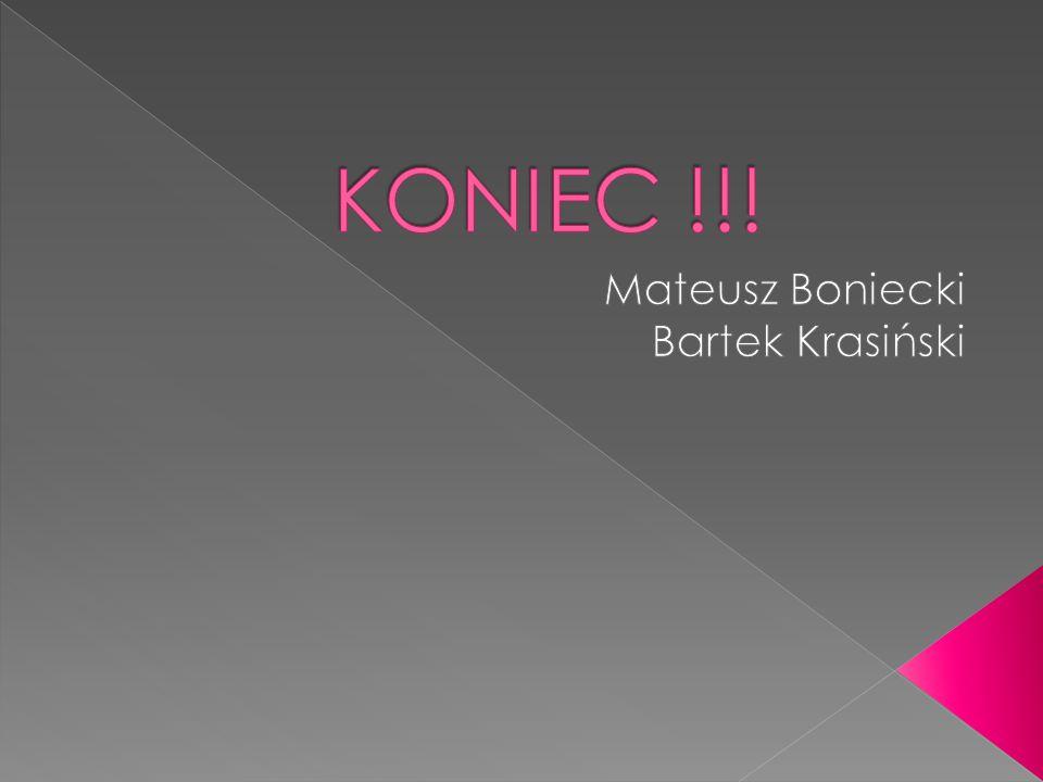 Mateusz Boniecki Bartek Krasiński