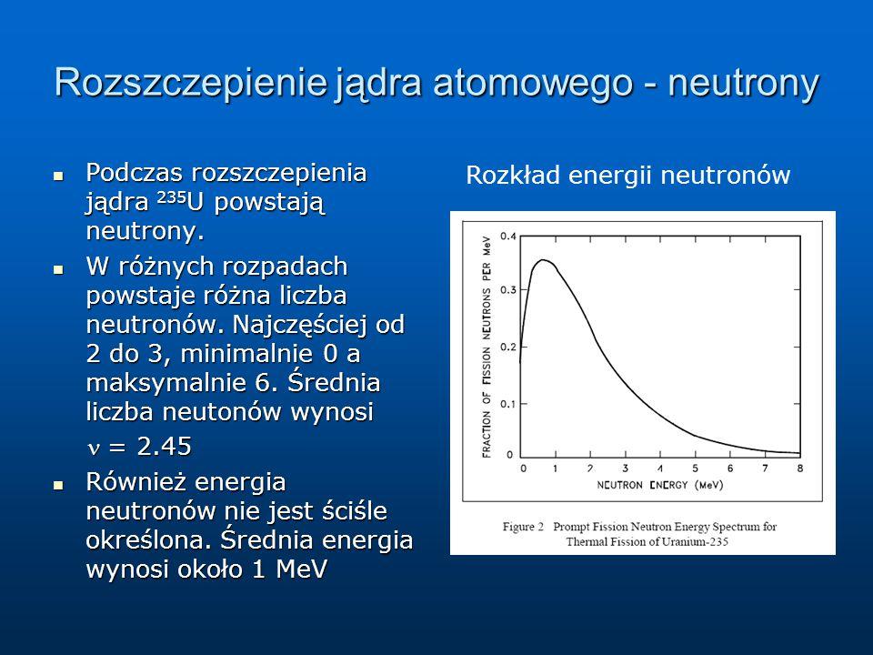 Rozszczepienie jądra atomowego - neutrony