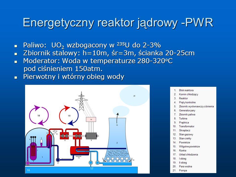 Energetyczny reaktor jądrowy -PWR