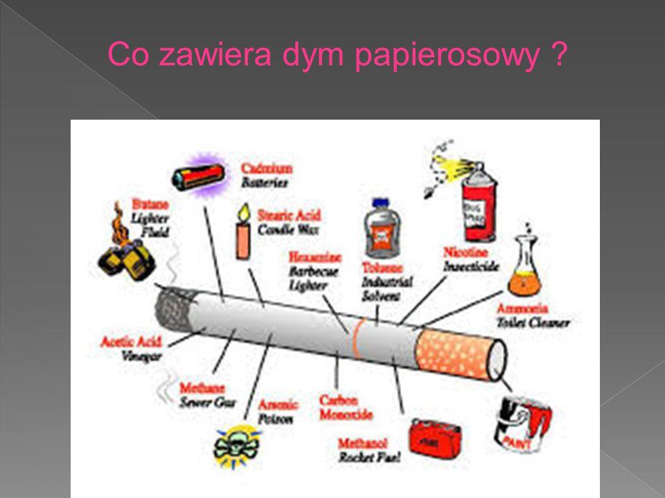 Co zawiera dym papierosowy
