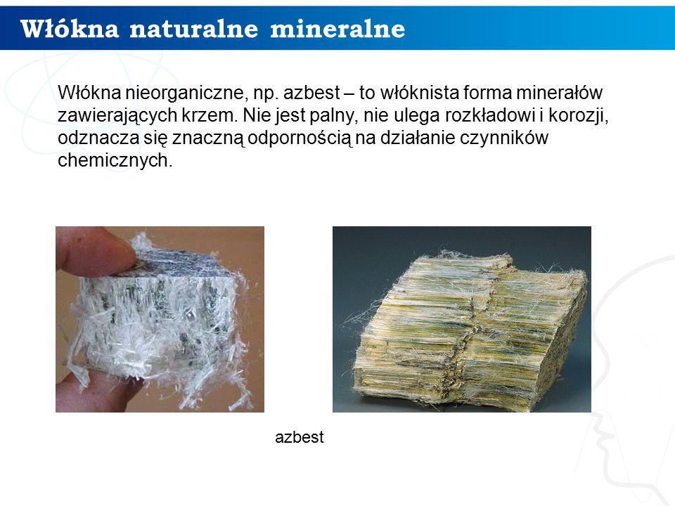 Włókna naturalne mineralne