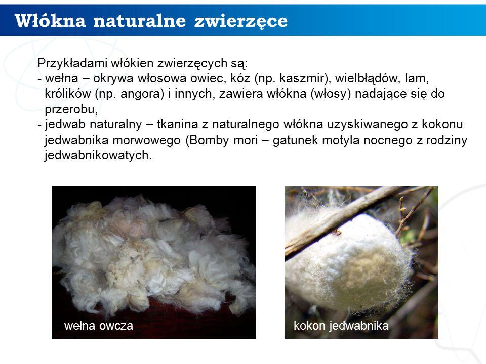 Włókna naturalne zwierzęce