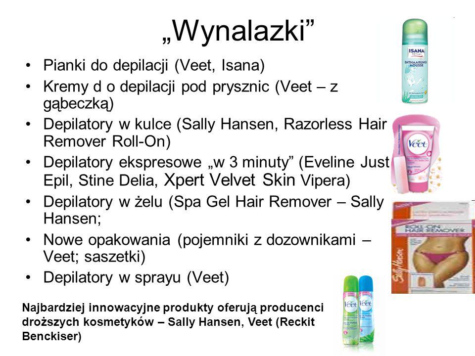 """""""Wynalazki Pianki do depilacji (Veet, Isana)"""