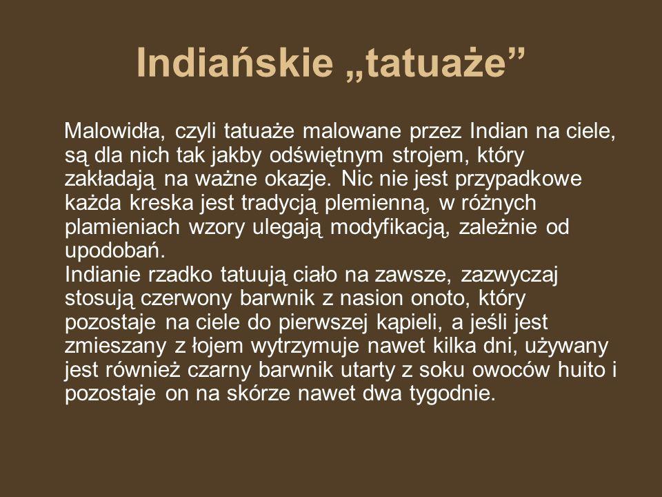"Indiańskie ""tatuaże"