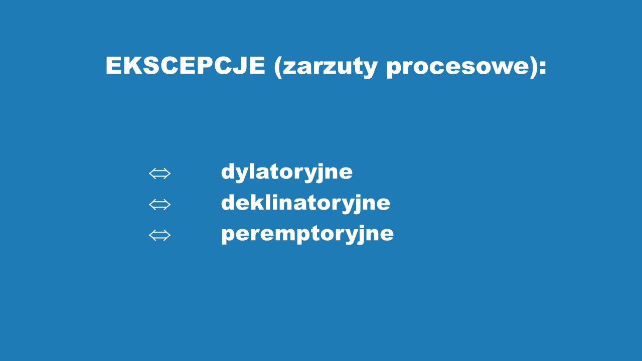 EKSCEPCJE (zarzuty procesowe):