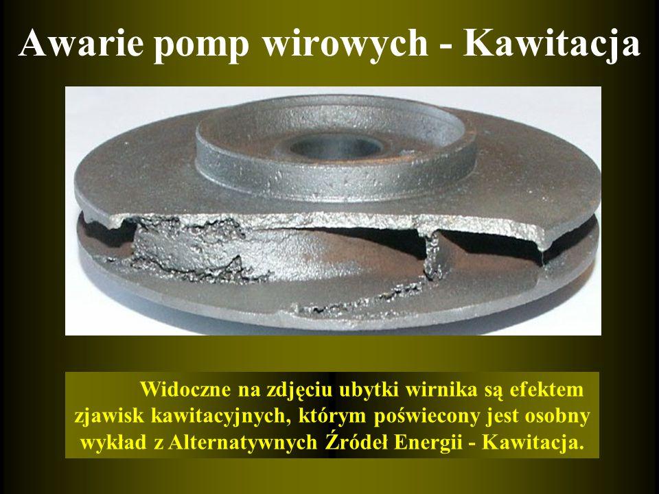 Awarie pomp wirowych - Kawitacja