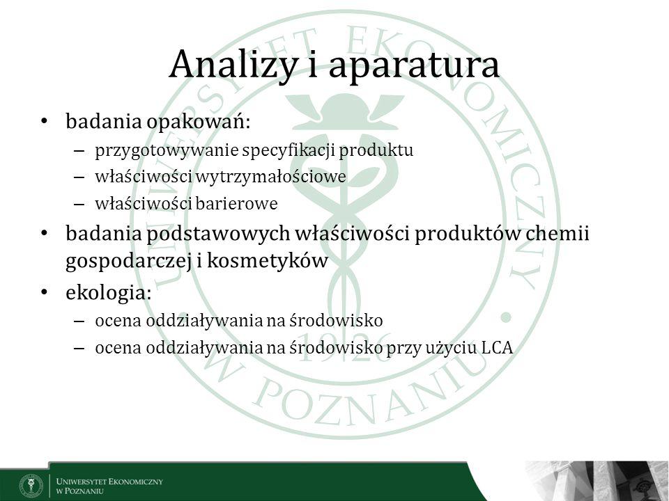 Analizy i aparatura badania opakowań: