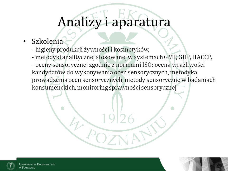 Analizy i aparatura