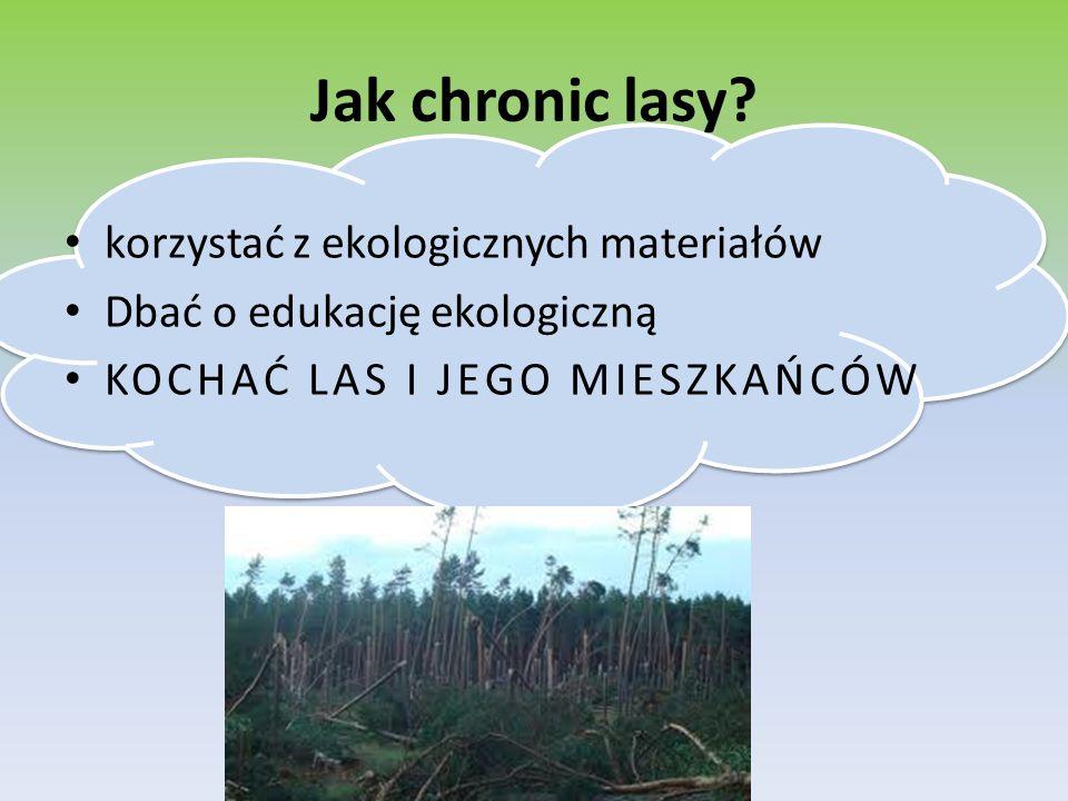 Jak chronic lasy korzystać z ekologicznych materiałów