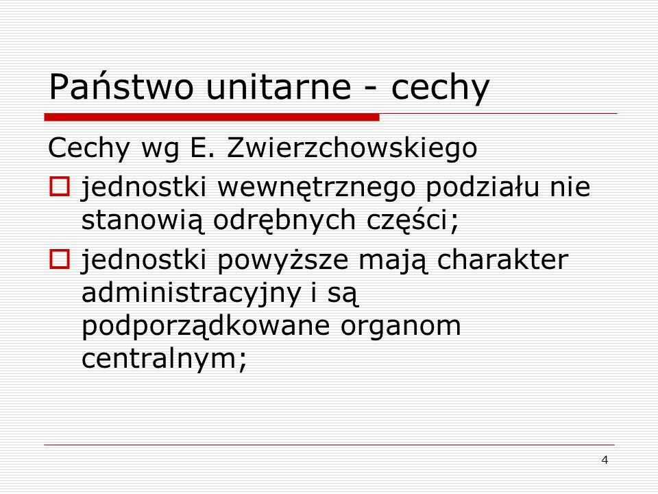 Państwo unitarne - cechy