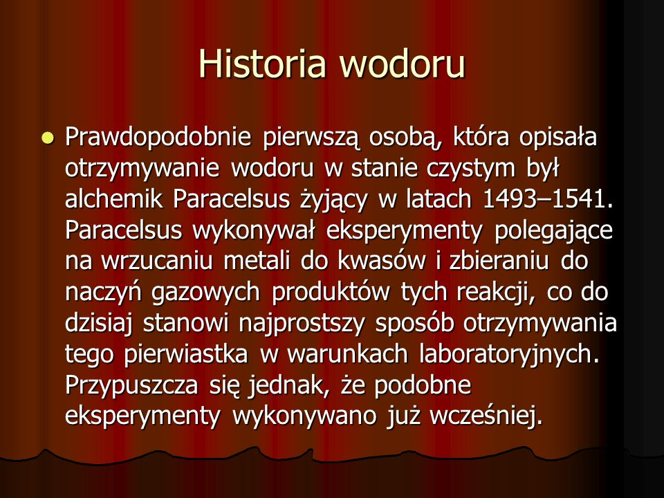 Historia wodoru