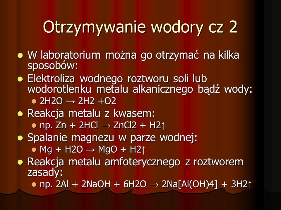 Otrzymywanie wodory cz 2