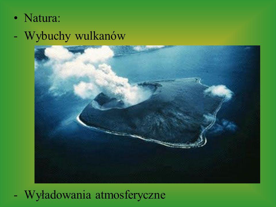 Natura: Wybuchy wulkanów Wyładowania atmosferyczne