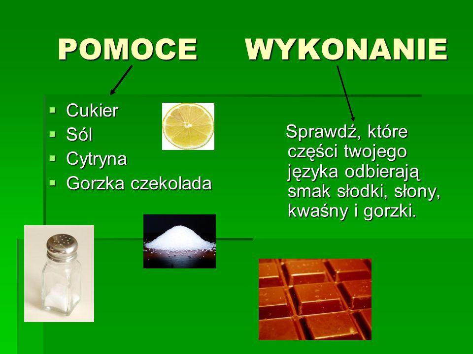 POMOCE WYKONANIE Cukier