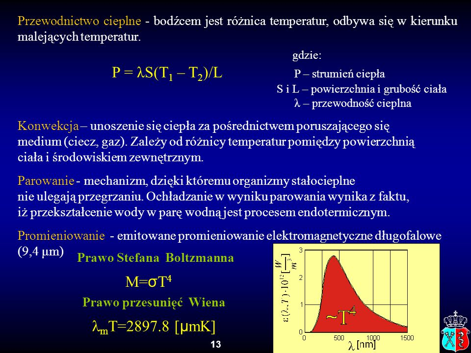 Prawo Stefana Boltzmanna Prawo przesunięć Wiena