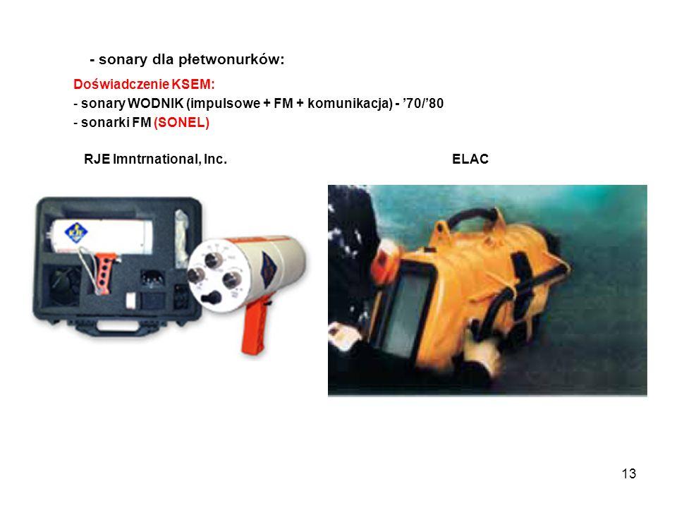 - sonary dla płetwonurków: