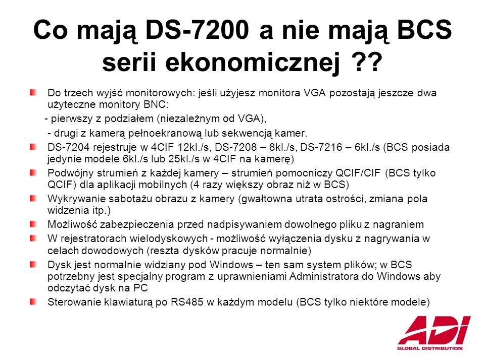 Co mają DS-7200 a nie mają BCS serii ekonomicznej