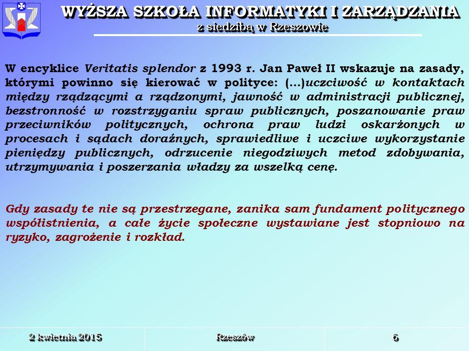 W encyklice Veritatis splendor z 1993 r