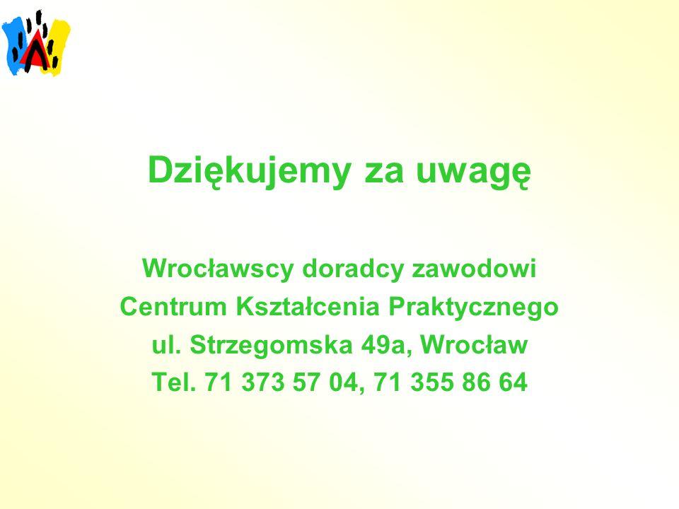 Dziękujemy za uwagę Wrocławscy doradcy zawodowi