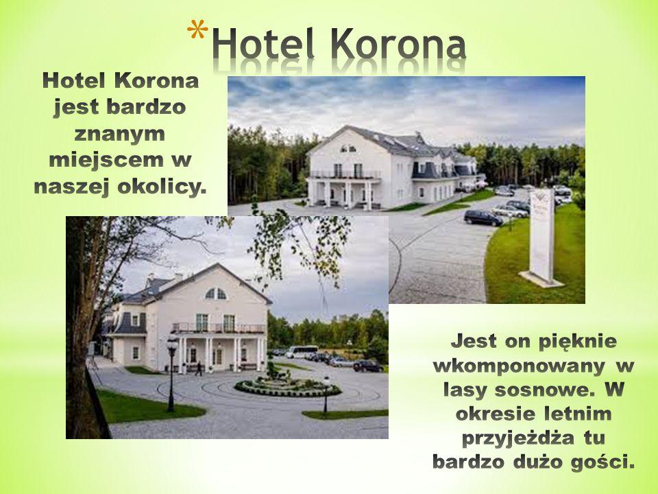Hotel Korona jest bardzo znanym miejscem w naszej okolicy.