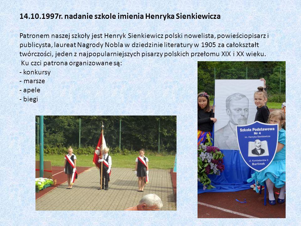 14.10.1997r. nadanie szkole imienia Henryka Sienkiewicza