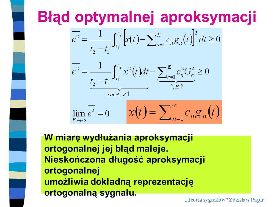 Błąd optymalnej aproksymacji