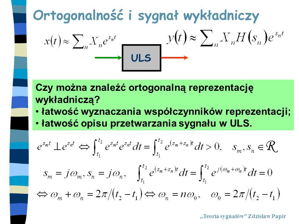 Ortogonalność i sygnał wykładniczy