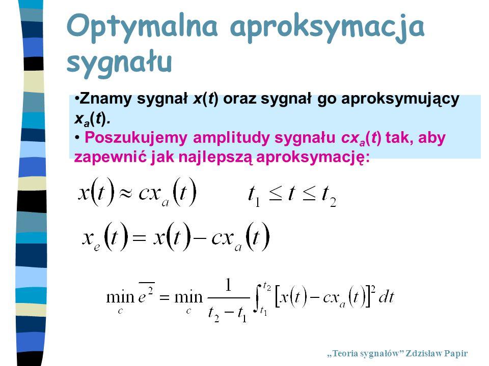 Optymalna aproksymacja sygnału