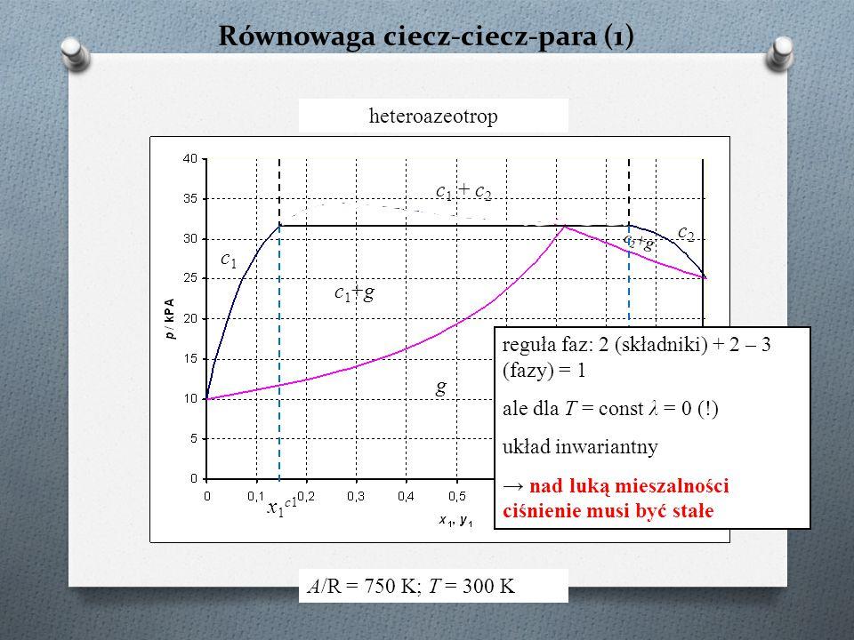 Równowaga ciecz-ciecz-para (1)