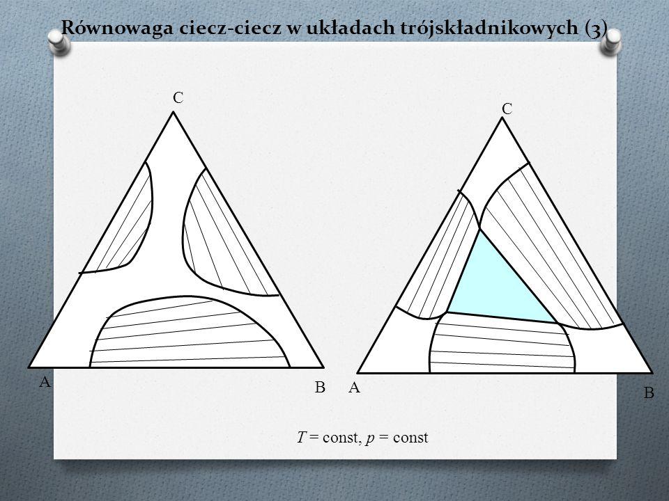 Równowaga ciecz-ciecz w układach trójskładnikowych (3)