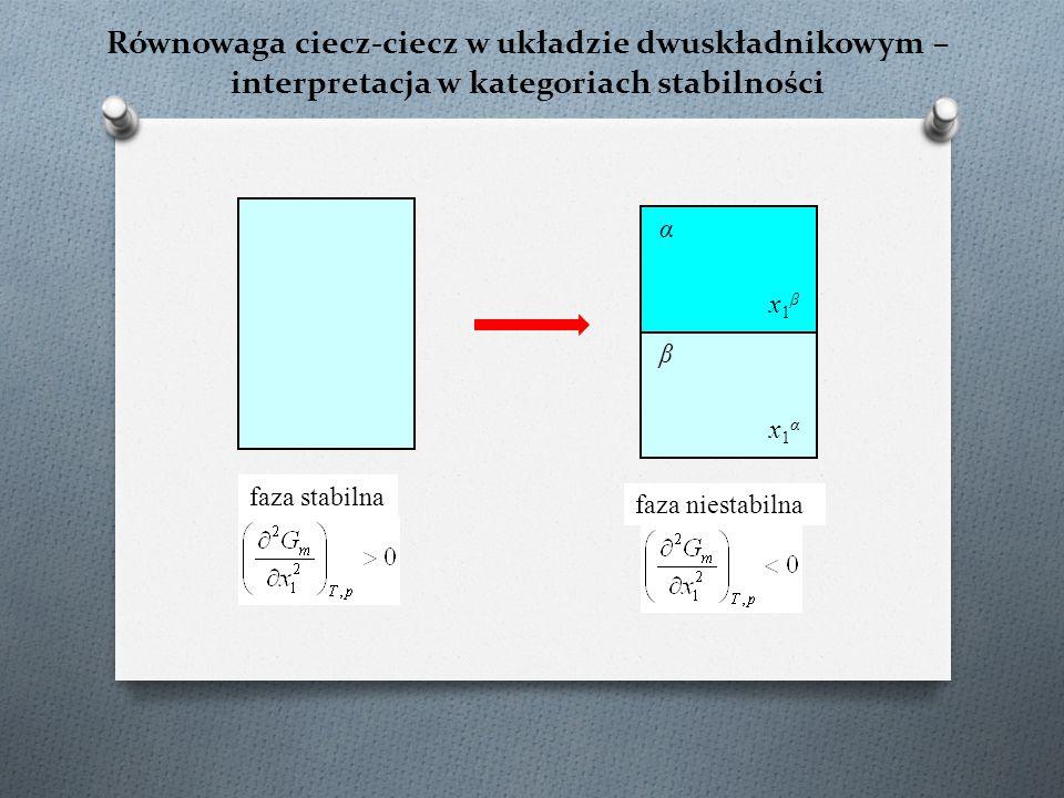 Równowaga ciecz-ciecz w układzie dwuskładnikowym – interpretacja w kategoriach stabilności