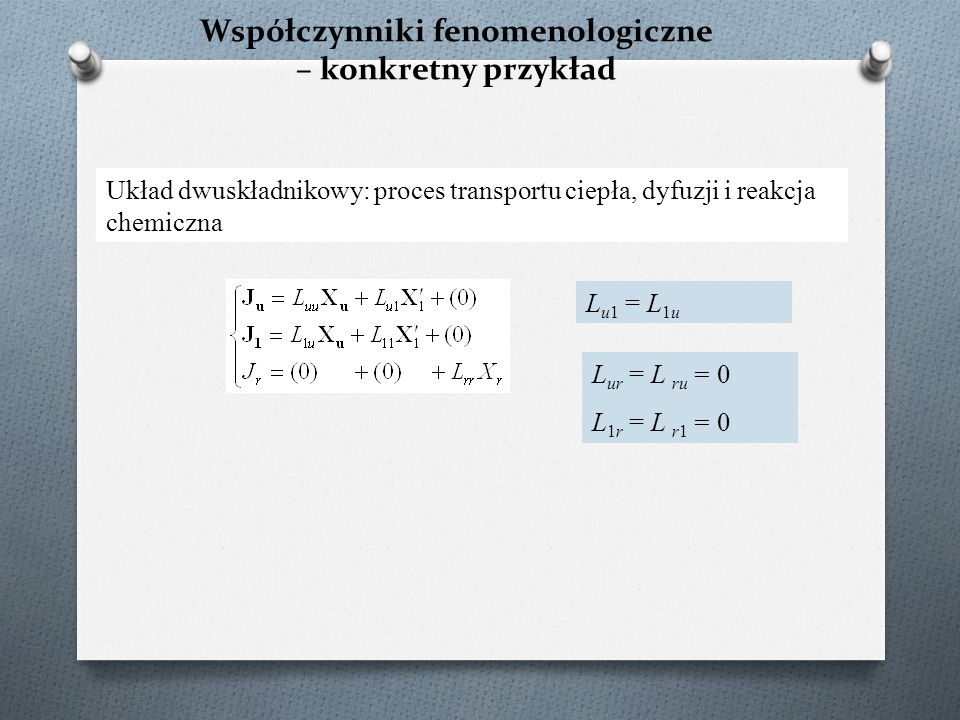 Współczynniki fenomenologiczne – konkretny przykład