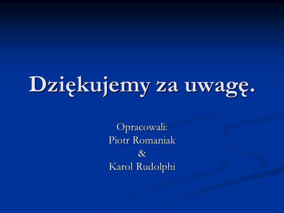 Opracowali: Piotr Romaniak & Karol Rudolphi