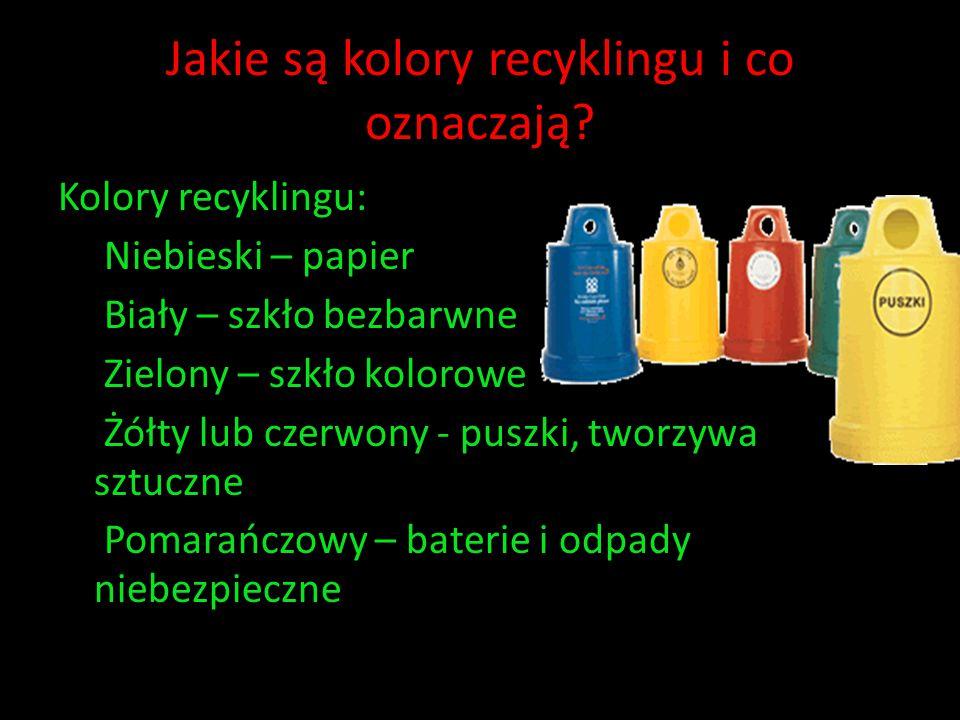 Jakie są kolory recyklingu i co oznaczają