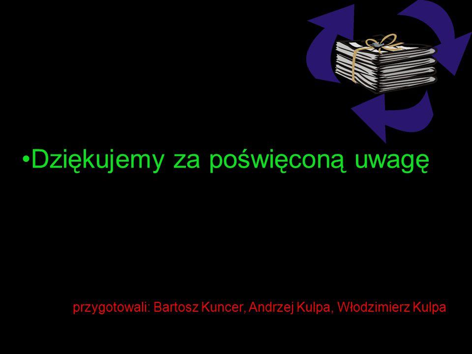 przygotowali: Bartosz Kuncer, Andrzej Kulpa, Włodzimierz Kulpa