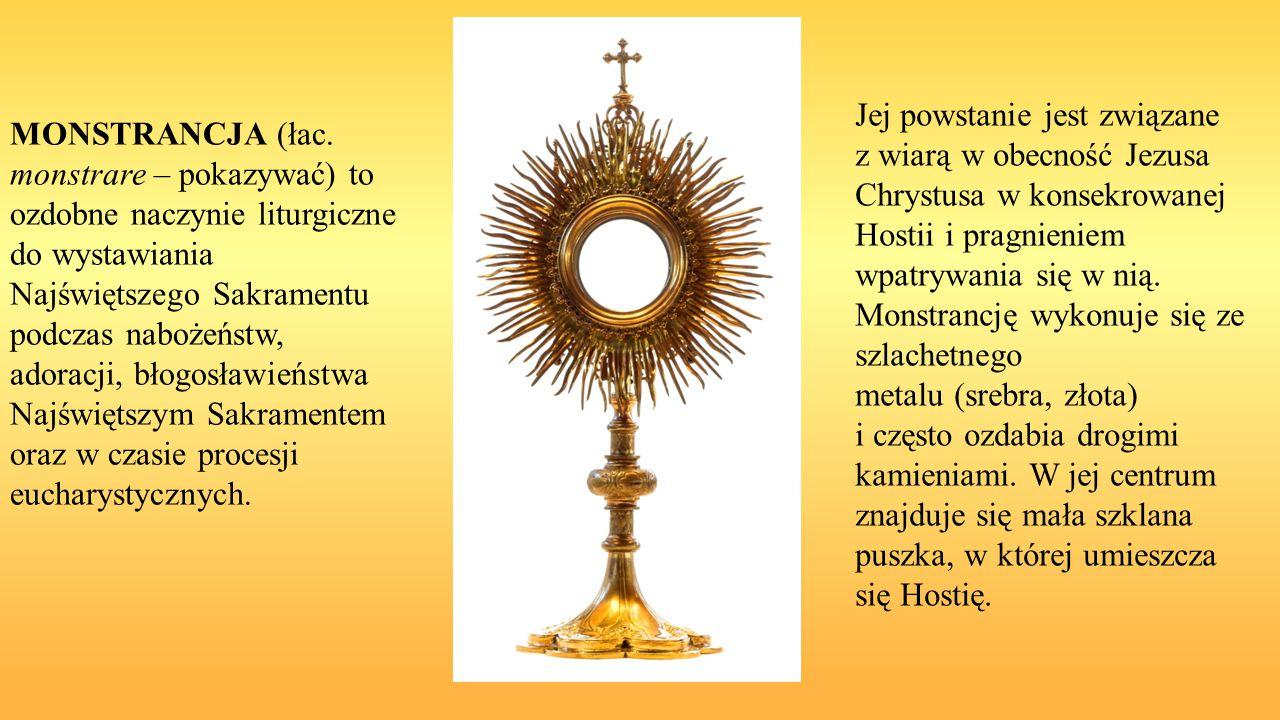 Jej powstanie jest związane z wiarą w obecność Jezusa Chrystusa w konsekrowanej