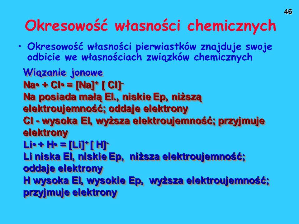 Okresowość własności chemicznych