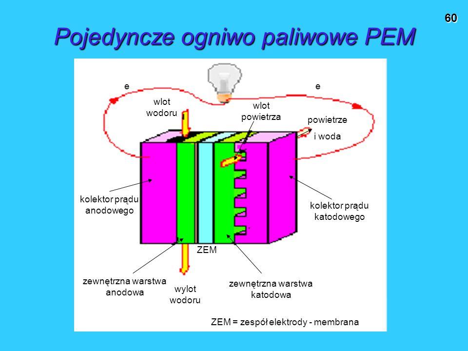 Pojedyncze ogniwo paliwowe PEM