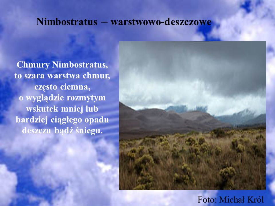 Nimbostratus – warstwowo-deszczowe