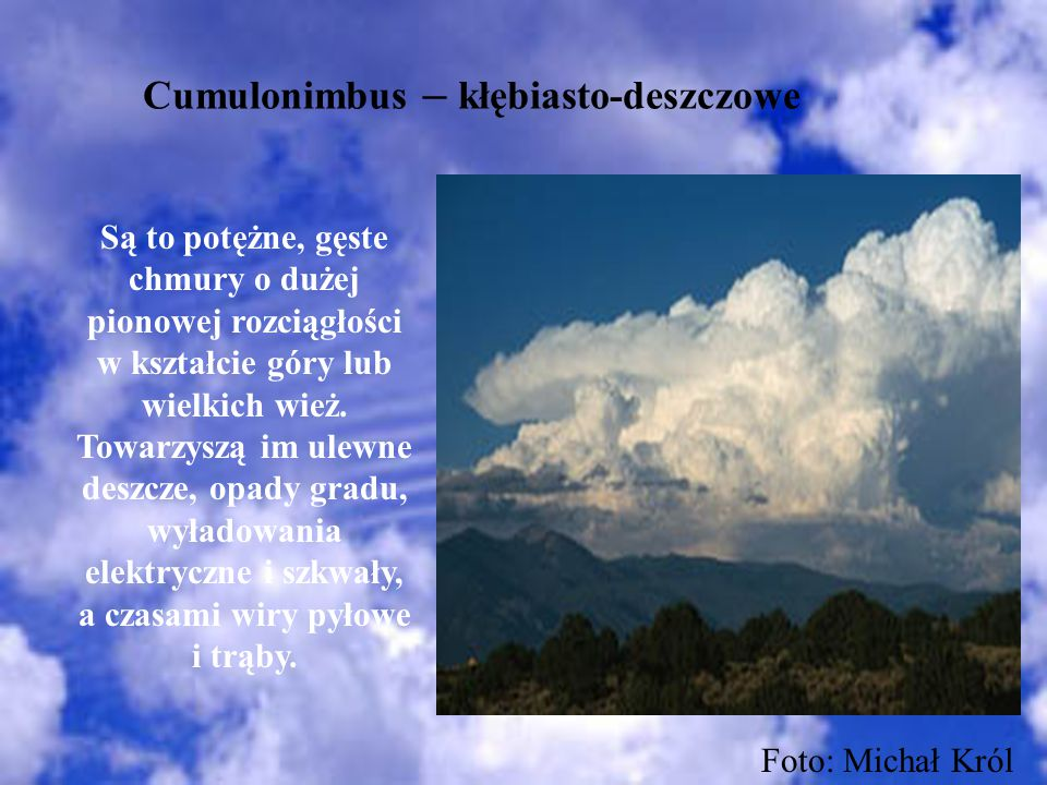 Cumulonimbus – kłębiasto-deszczowe