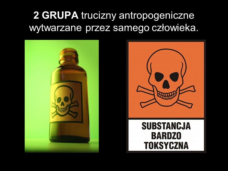 2 GRUPA trucizny antropogeniczne wytwarzane przez samego człowieka.